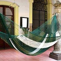 Hammock, 'Forest Slumber' (double) - Collectible Striped Mayan Hammock (Double)