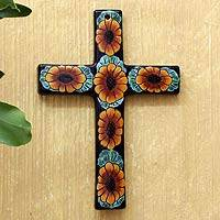 Ceramic wall cross,