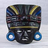 Ceramic mask, 'Aztec Priest' - Ceramic mask