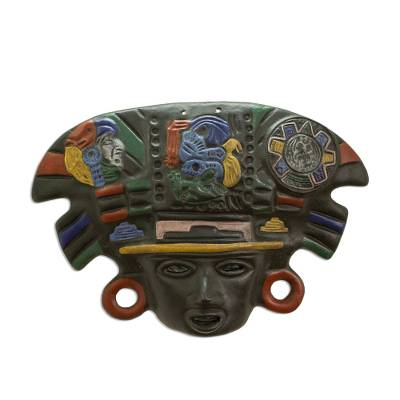 Hand Crafted Archaeological Ceramic Mask from Mexico