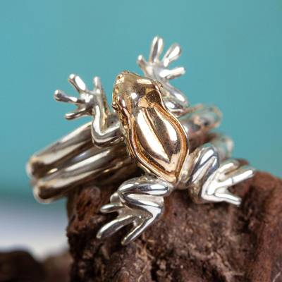 22k Gold Plated Frog Cocktail Ring