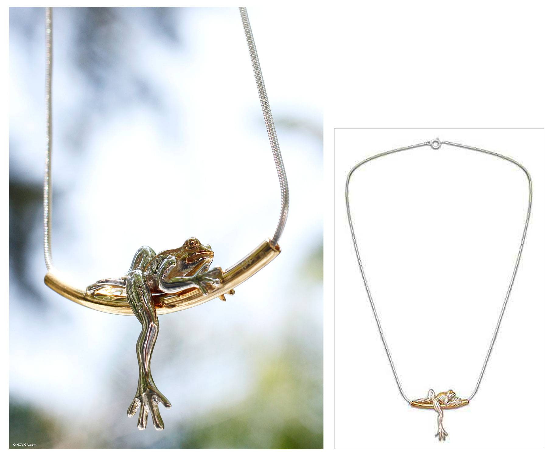 Rain Frog Dreams necklace :  necklace frogs