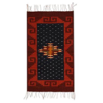 Zapotec wool rug (2x3)