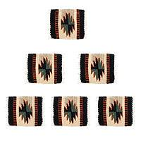 Zapotec coasters, 'Fancy Diamonds' (set of 6) - Zapotec coasters (Set of 6)