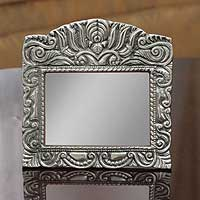 Aluminum picture frame, 'Mexican Baroque' (5x7) - Aluminum picture frame (5x7)
