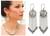 Pearl earrings, 'Heart Rain' - Women's Heart Shaped Silver and Pearl Earrings thumbail