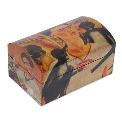 Frida Multicolor Wood Decorative Box