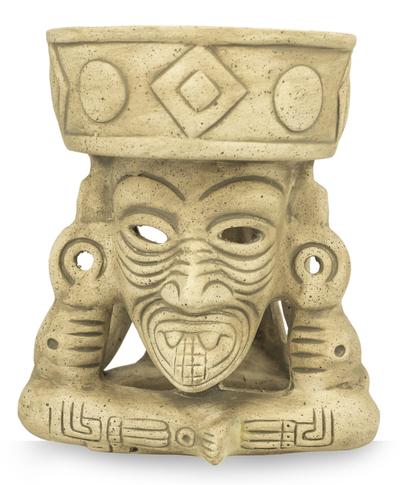 Handmade Aztec Archaeologyl Ceramic Sculpture