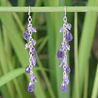 Amethyst earrings, 'Blessing in Lilac' - Amethyst earrings