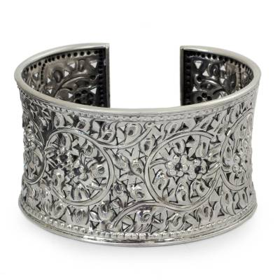 Artisan Crafted Fine Silver Cuff Bracelet