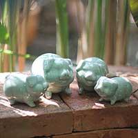 Celadon ceramic statuettes,