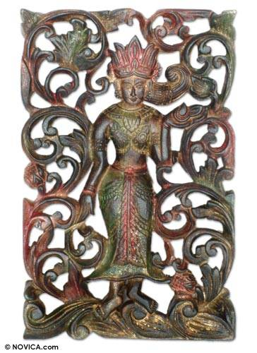 Teak Relief Panel from Thailand