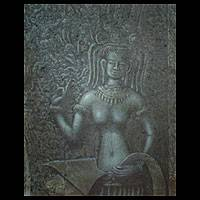 'Right Heavenly Nymph' (2005) - Traditional Thai Fine Art Painting