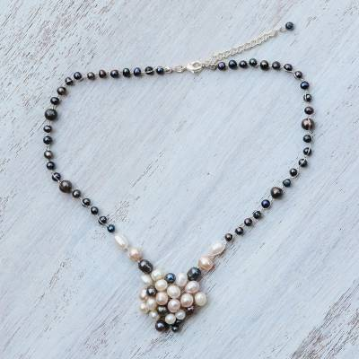 Pearl choker, 'Enchantment' - Handmade Pearl Necklace