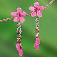 Floral earrings,