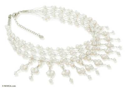 Unique Beaded Pearl Necklace