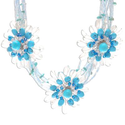 Unique Floral Pendant Necklace