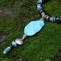 Turquoise pendant necklace,