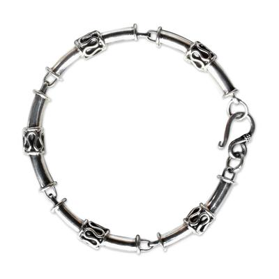 Handmade Thai Sterling Silver Link Bracelet