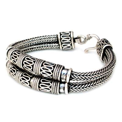 Thai Sterling Silver Chain Bracelet