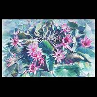'Reach the Skies' (2006) - Floral watercolour Painting
