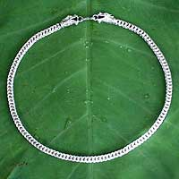 Sterling silver chain necklace, Dragon Art