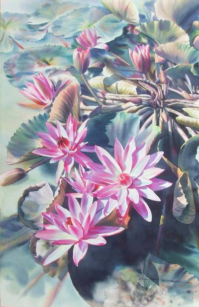 'Colorful of Summer' (2006) - Thai Watercolor Painting