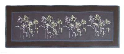 Cotton table runner, 'Dainty Dance' - Cotton table runner