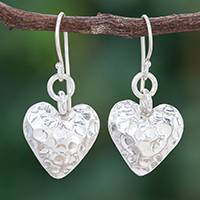 Silver heart earrings, 'In My Heart' - Silver 950 Heart Earrings