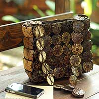 Coconut Shell Shoulder Bag, 'whirligig' Picture