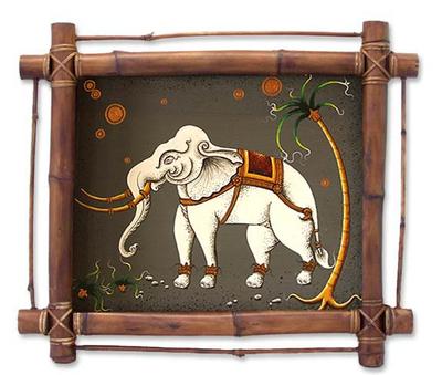 Framed Thai Folk Art Painting