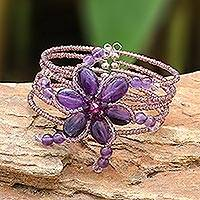 Amethyst wrap bracelet,