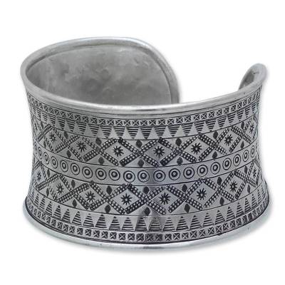 Fair Trade Hill Tribe Sterling Silver Cuff Bracelet