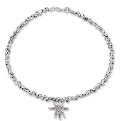 Hand Made Sterling Silver Beaded Bracelet