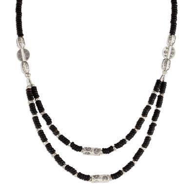 Coconut shell strand necklace