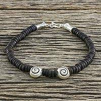 Coconut shell anklet,