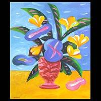 'Happy Life' - Thai Floral Painting