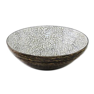 Eggshell Mosaic Bowl from Thailand (Medium)