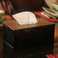 Eggshell mosaic tissue box,