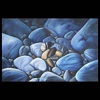 'Harmony in Blue II' (2007) - Still Life Oil Painting