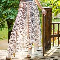 Cotton wrap around skirt,