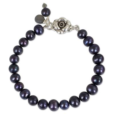 Handmade Fine Silver Pearl Bracelet