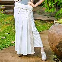Cotton wrap around skirt, 'Thai Sophistication' - Thai Wrap Around Skirt