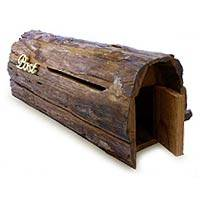 Teak post box, 'Mail Log' - Teak post box