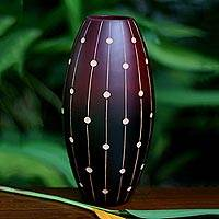Wood vase, 'Codex' - Thai Mango Wood Vase