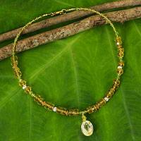 Citrine and peridot choker,