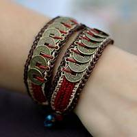 Beaded wristband bracelets Coins of Passion (pair) (Thailand)