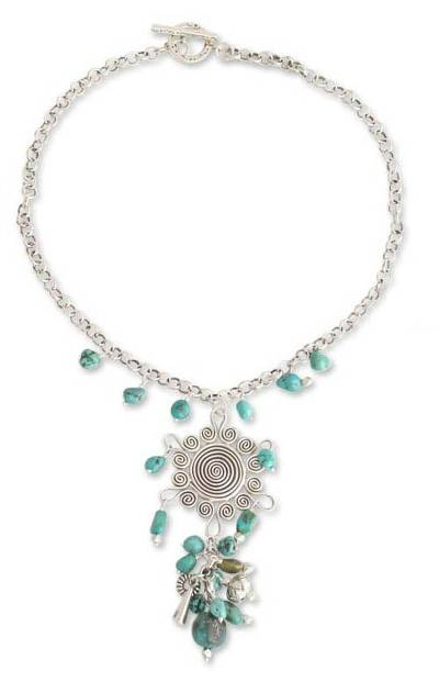 Turquoise Y necklace