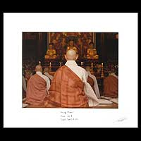 'Praying Monks' -  Photography Print from Thailand