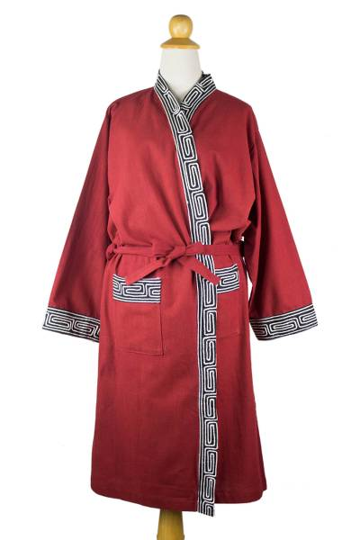 Embroidered Cotton Robe